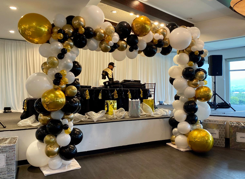 Bay Area Balloon - Elegant Organic Arch Frame