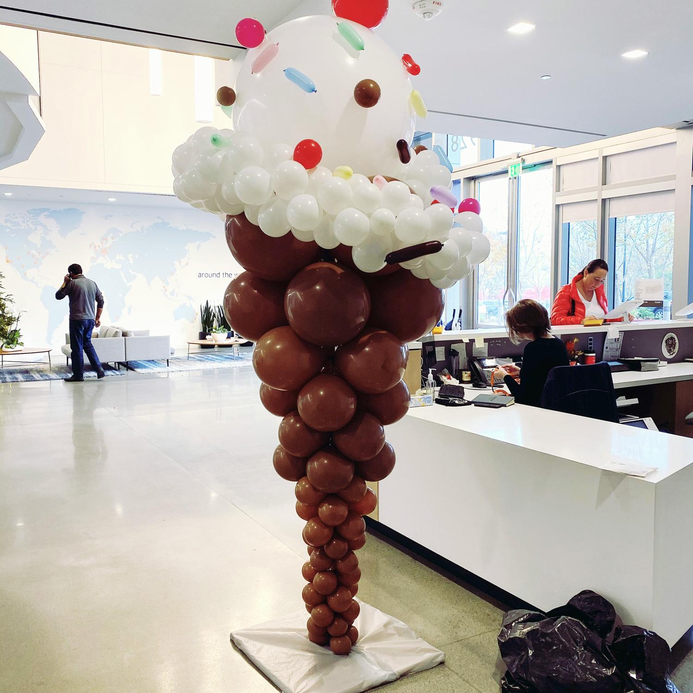 Bay Area Balloon - Ice Cream Cone Sculpture
