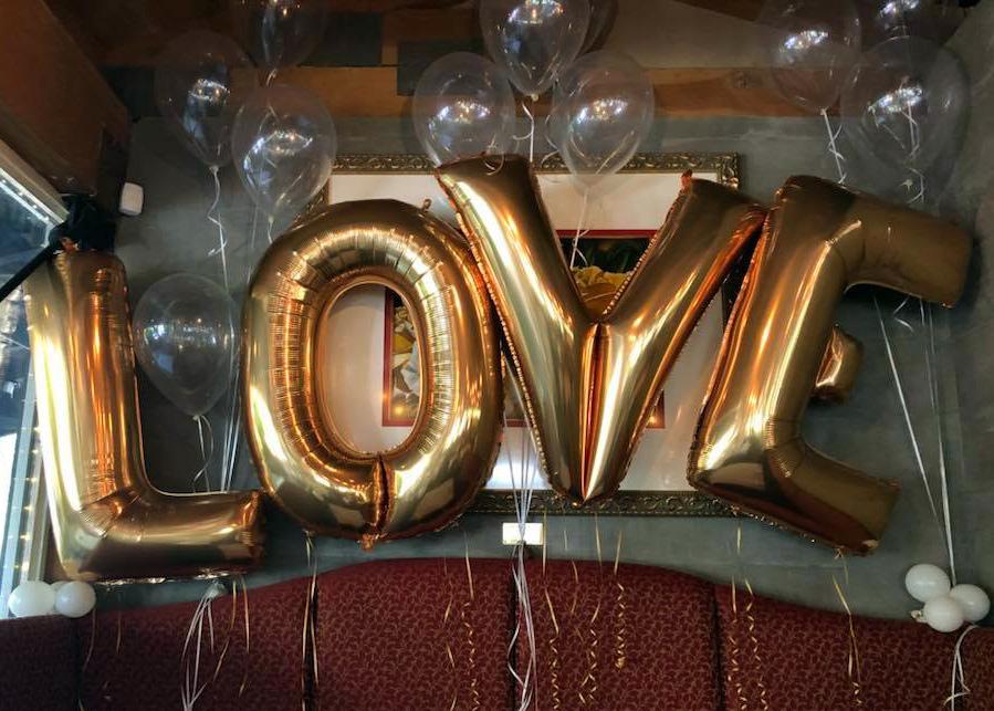 Bay Area Balloon - Balloon LOVE Letters