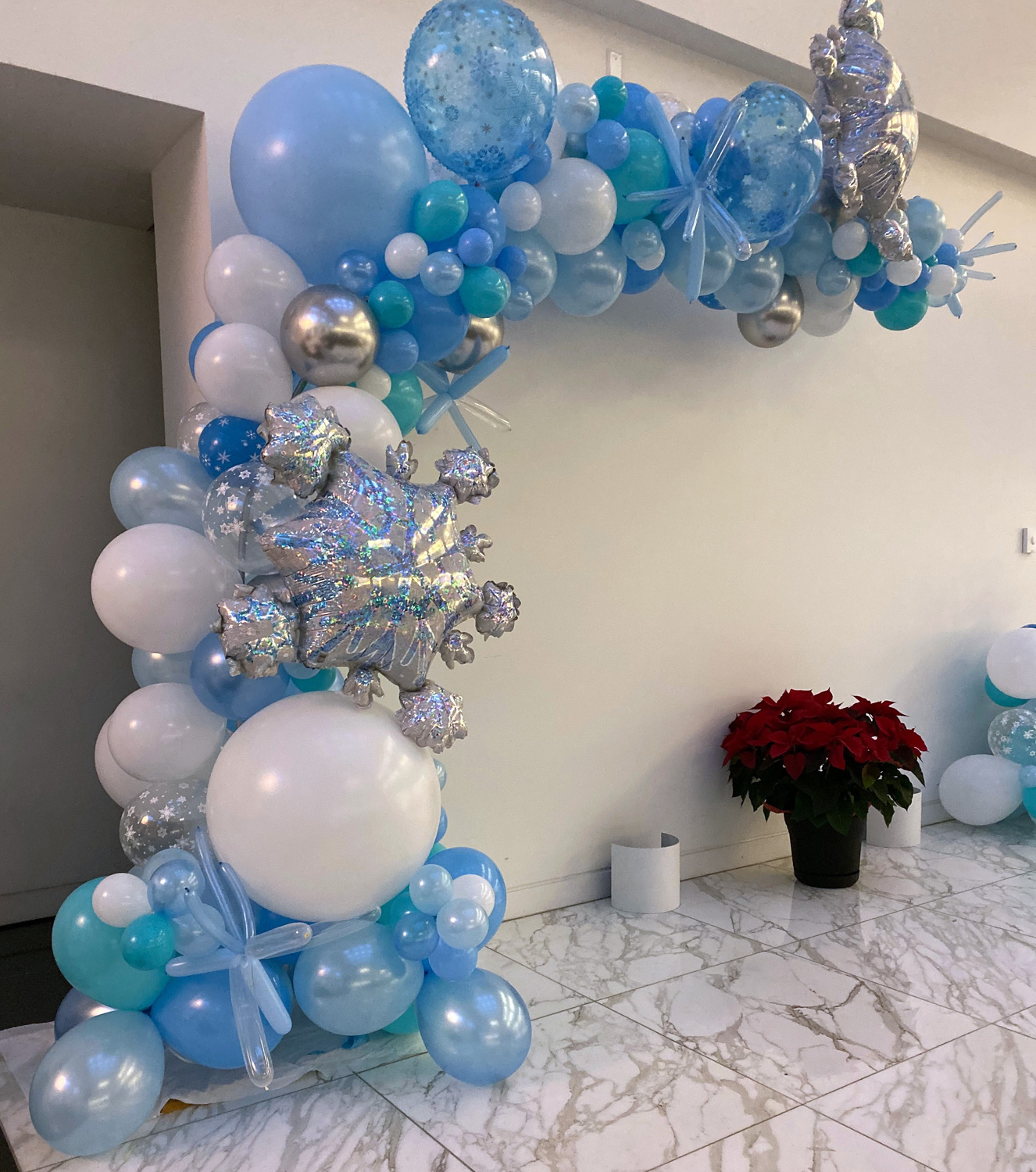 Bay Area Balloon - Snow and Ice Organic Arch