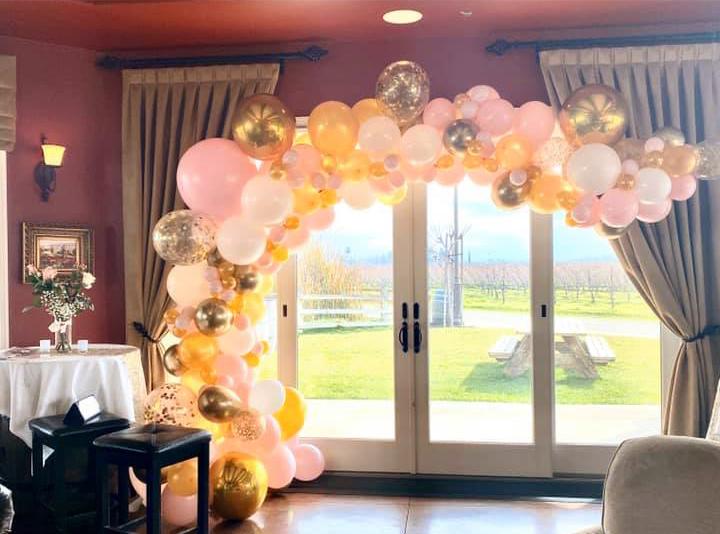 Bay Area Balloon Golden Elegant Organic Arch